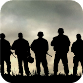 Soldiers silhouette.Wallpaper