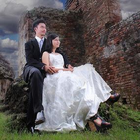 by Muhamad Anshorullah - Wedding Bride & Groom ( prewedding, kaibon, indonesia, banten,  )