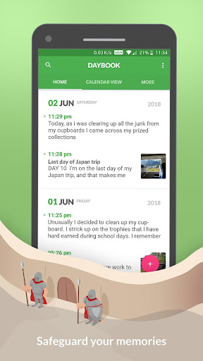 Daybook - Diary, Journal, Note 4.7.28 screenshots 1