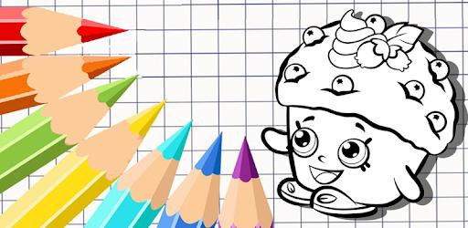 Descargar Libro Para Colorear Shopkins Juego Dibujo Gratis