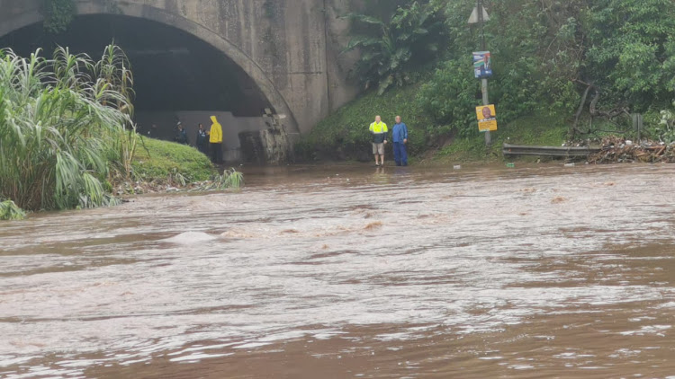 Stapleton Road, west of Durban, was one of the many roads that was closed due to flooding.