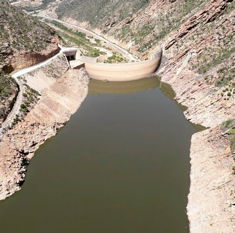 The Gamtoos dam in Eastern Cape. The extreme heat and lack of rain in the province is a worry.