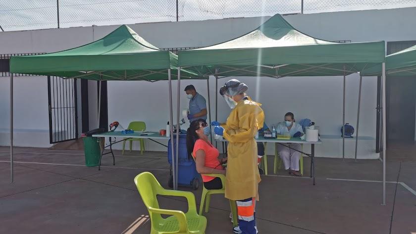Realización de cribados en Almería.