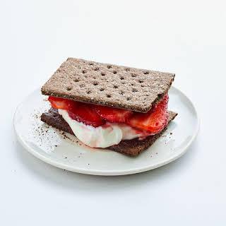 Strawberries & Cream Chocolate Cookie Sandwich.