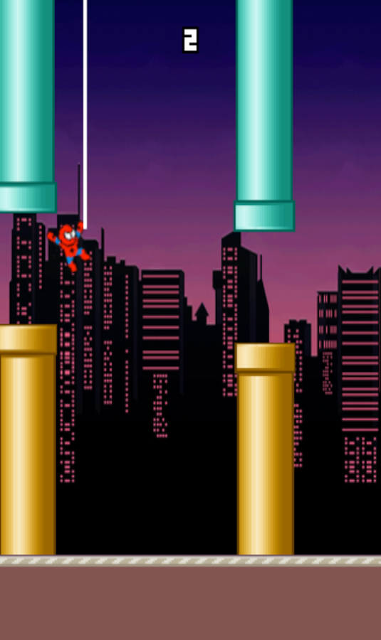 Flappy Spidey - Homecoming to Flappy World- screenshot