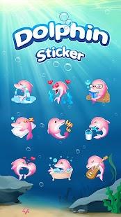 Funny Pink Dolphin Sticker - náhled