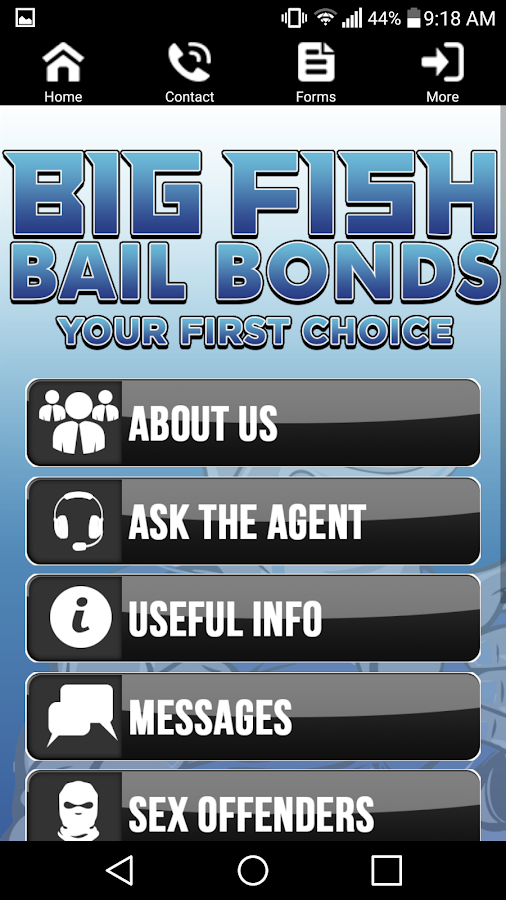 Big fish bail bonds android apps on google play for Big fish bail bonds