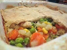 Chicken Pot Pie with biscuit mix for crust