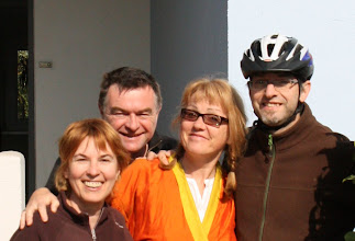 Photo: Day 22 - Our Hosts from Last Night - Martin and Pierre-Yves, plus his Siser Michelle and her Husband Francis