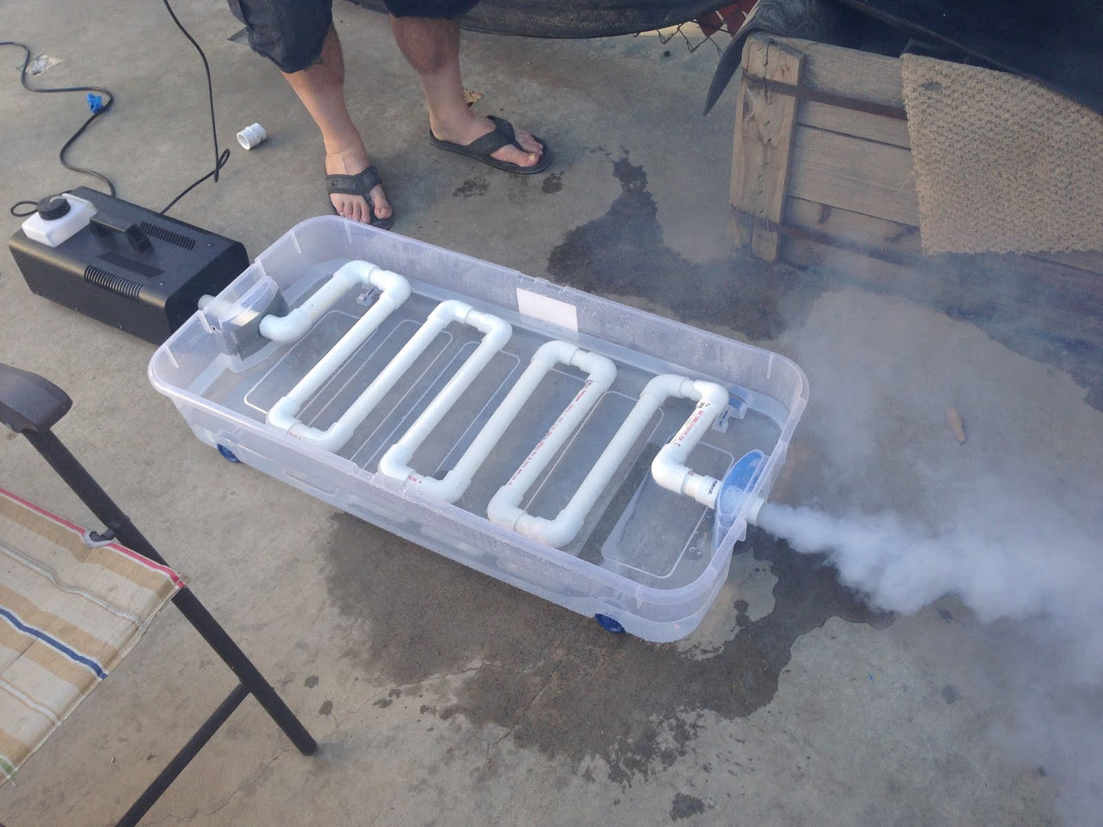 Sowdering About Day 10 Fog Machine Chiller A Guest Post