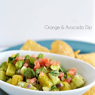 Orange & Avocado Dip.