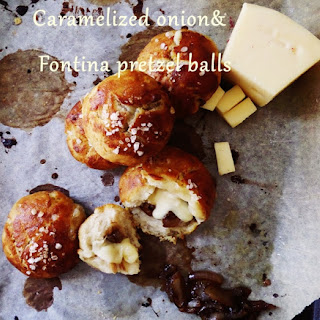 Cheesy Pretzel Balls Stuffed With Caramelized Onions (gf)