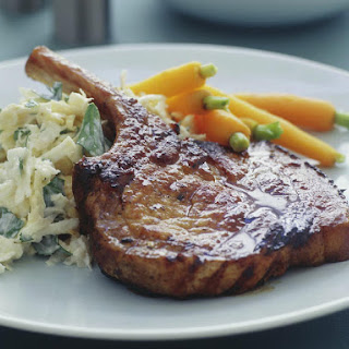 Glazed Pork Cutlets with Celeriac Salad