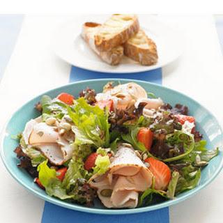 Salade Met Aardbei En Kipfilet