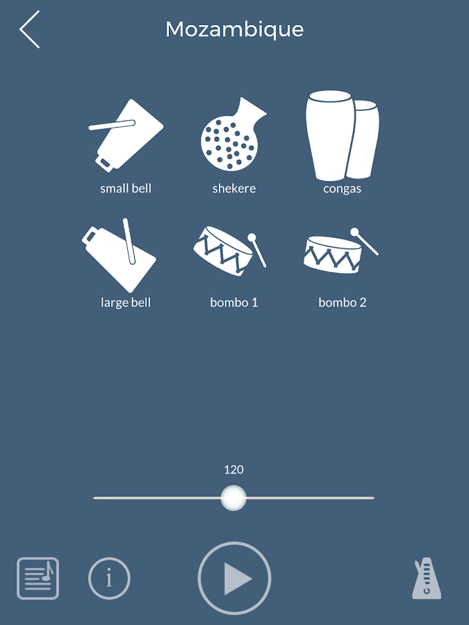 PercussionTutor- screenshot