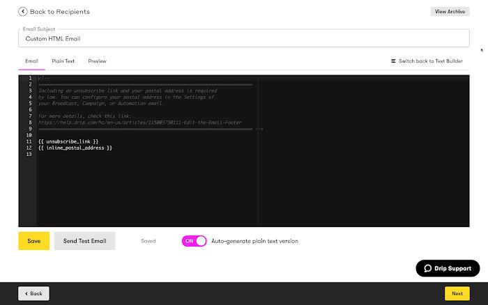 Custom HTML Builder