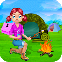 Camping Vacation Kids Games icon