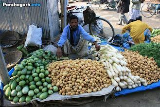 Photo: Vegetable shop in Fakirganj haat of Atwari