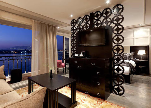 Unwind in comfort in your suite on ms Mayfair while exploring the Nile River..