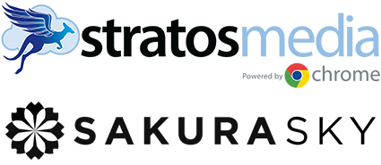 StratosMedia and Sakura Sky logo