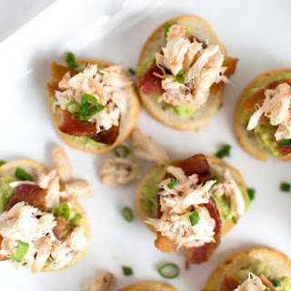 Bacon, Crab & Guacamole Crostini