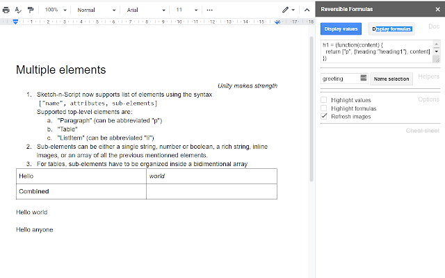 Formulas for Google Docs - G Suite Marketplace