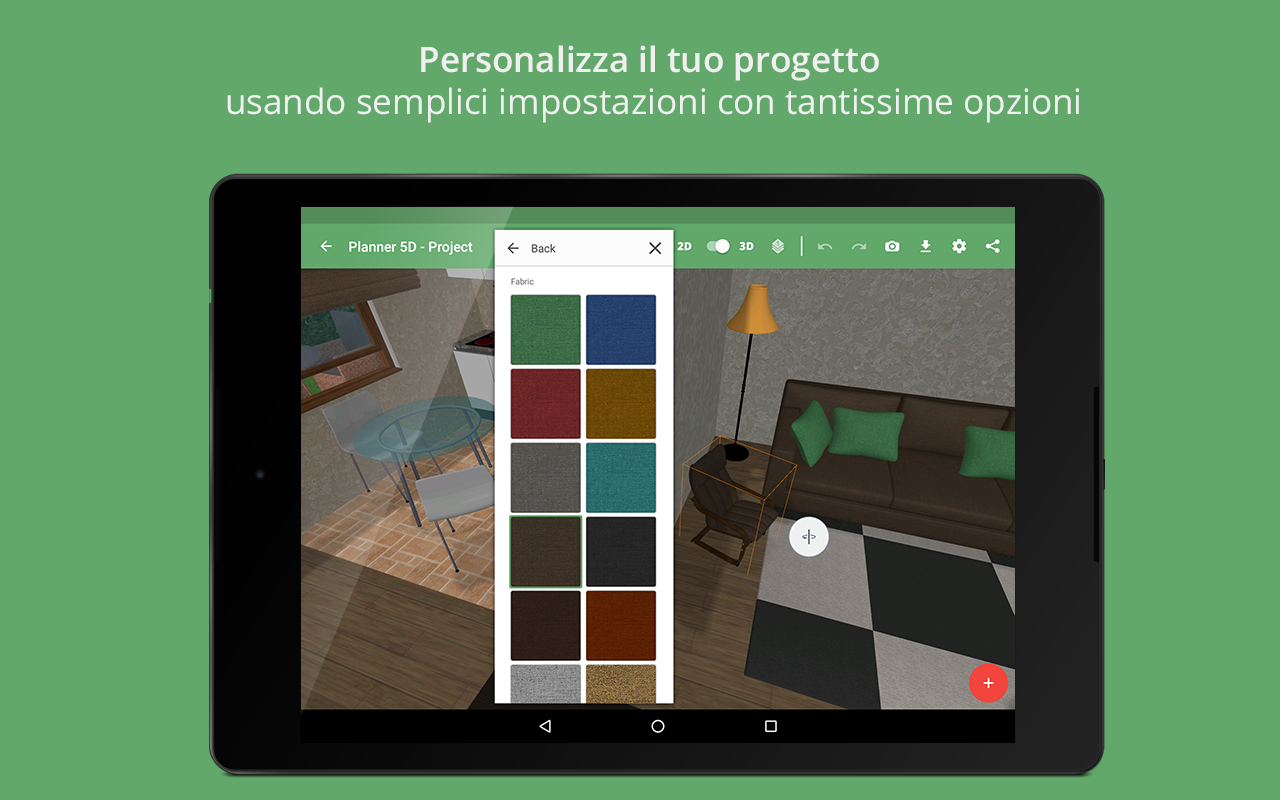Planner 5d design d 39 interni app android su google play for App arredamento interni