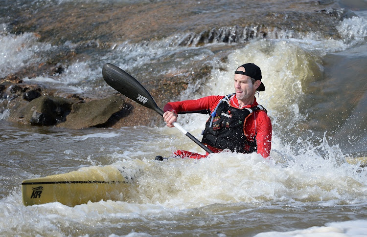 Graeme Solomon competes in the 2018 Berg River Canoe Marathon in Paarl. Picture: GALLO IMAGES