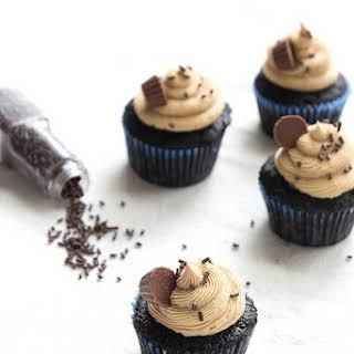 Peanut Butter Ganache Cupcakes.