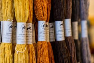 Photo: Churro yarn at Tierra Wools, Los Ojos