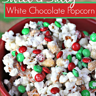 Sweet and Salty White Chocolate Popcorn