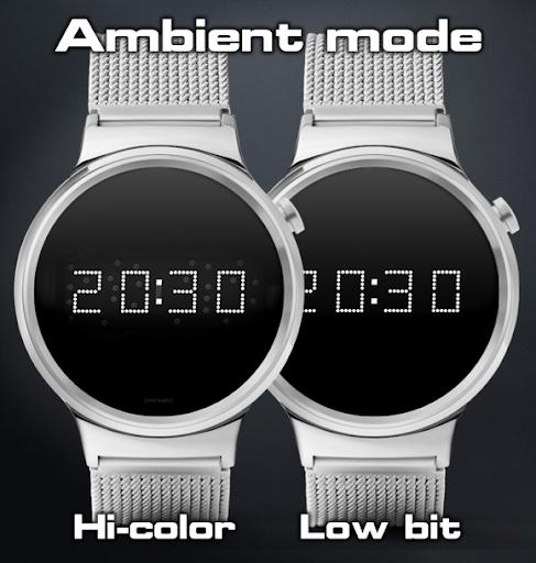 Download LED watch face   Vintage   Seventies Sapphire MOD APK 4