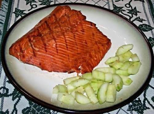 "Grilled Salmon, The House Special ""Very tasty! Marinade longer for better flavor,..."