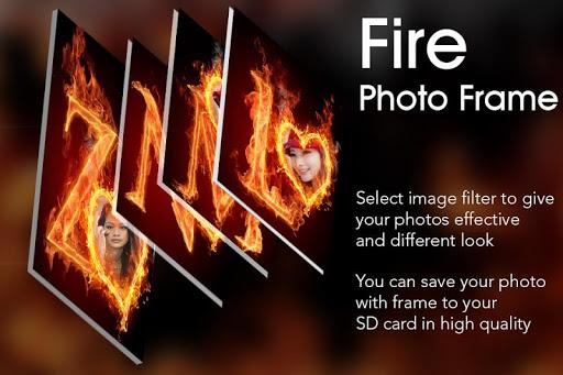 Fire Text Photo Frame  screenshots 2