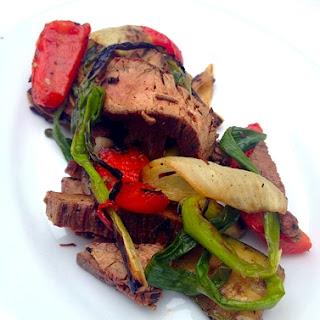 Grilled Vegetable Steak Salad w/ Sesame Balsamic Glaze