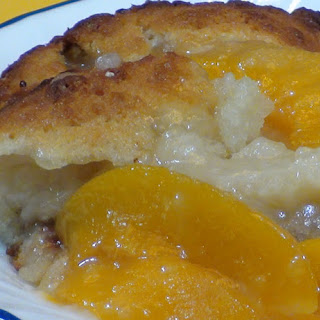 Grandma's Floating Peach Cobbler