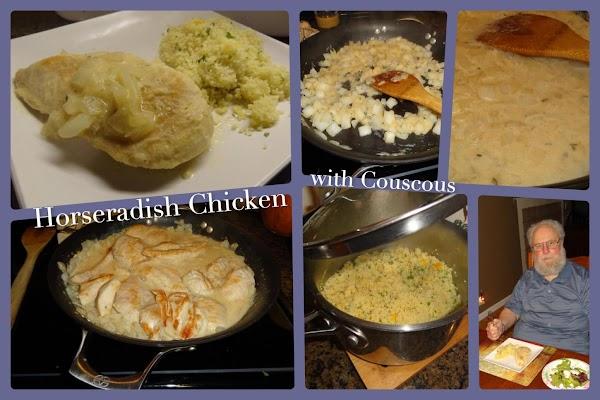 Horseradish Chicken With Couscous Recipe