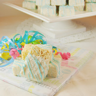 White Chocolate-Dipped Rice Krispie Treats
