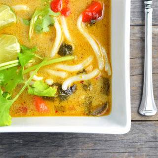 Crockpot Thai Chicken Noodle Soup