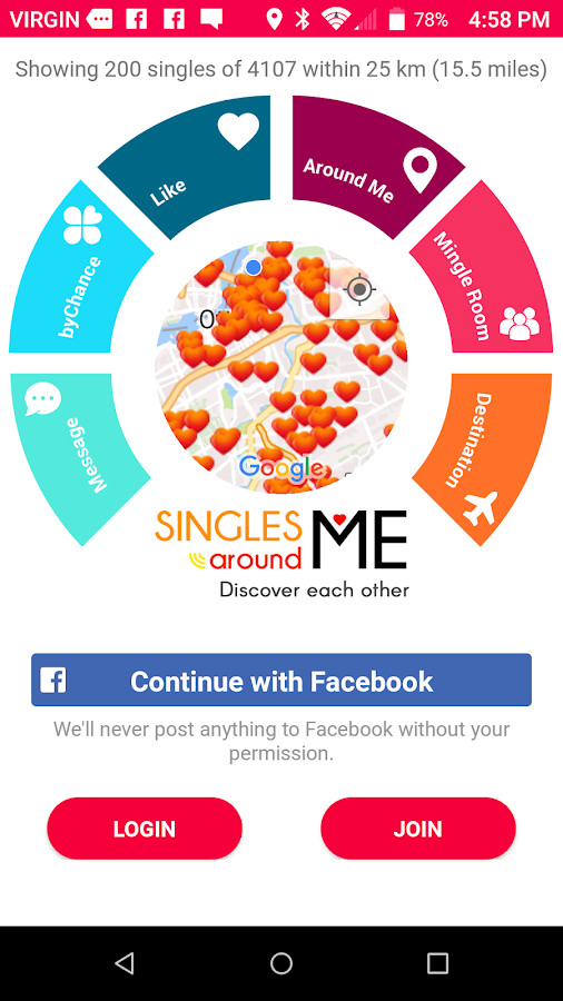 Singles Around Me Login