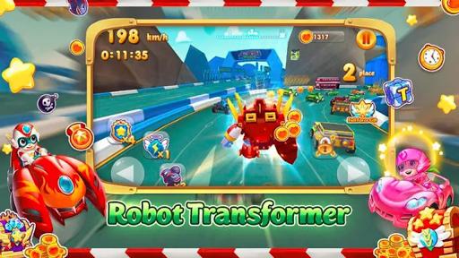 Car Transformers Racing - Car Race Kids  captures d'écran 2