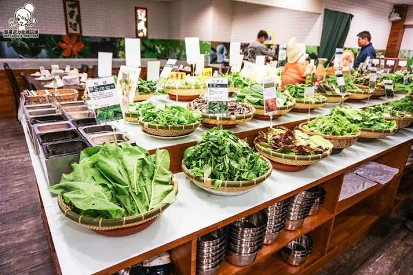 百草饌原生鍋物,沒看過的野菜一次吃個夠
