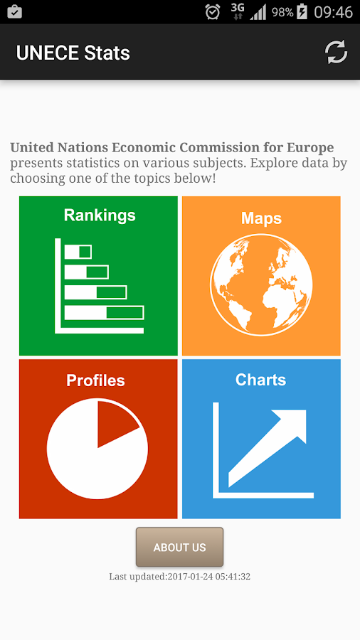 UNECE Stats- screenshot