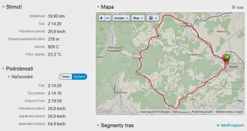 Fotka: Trasa GPS