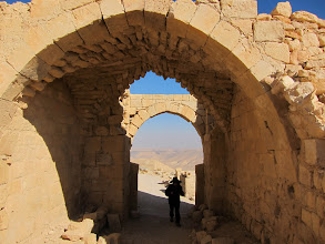 Photo: Entering Shobak Castle (built by Crusaders)