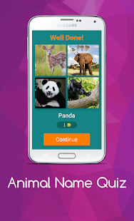 Download free Animal Name Quiz for PC on Windows and Mac apk screenshot 2