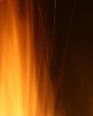 Linee disegnate dal fuoco di bluebird