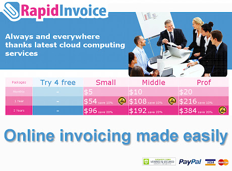 Rapid Invoice free online billing & invoicing
