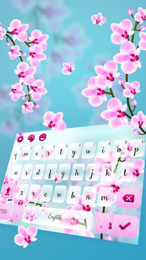 Orchid Flower Keyboard Theme 10001015 screenshots 1
