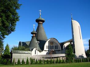 Photo: Hajnówka. Sobór św. Trójcy. Cerkiew parafialna jest świątynią Polskiego Autokefalicznego Kościoła Prawosławnego. Może pomieścić 5 tysięcy wiernych.